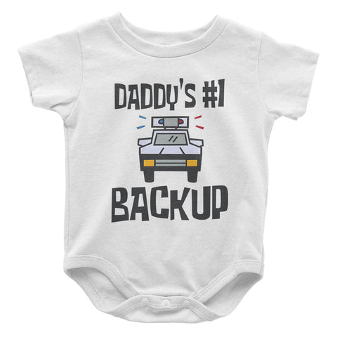 Daddy's #1 Backup - Baby Onesie