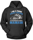 Proud Police Officer - Nothing Beats Being a Mamaw Pullover Hoodie Sweatshirt
