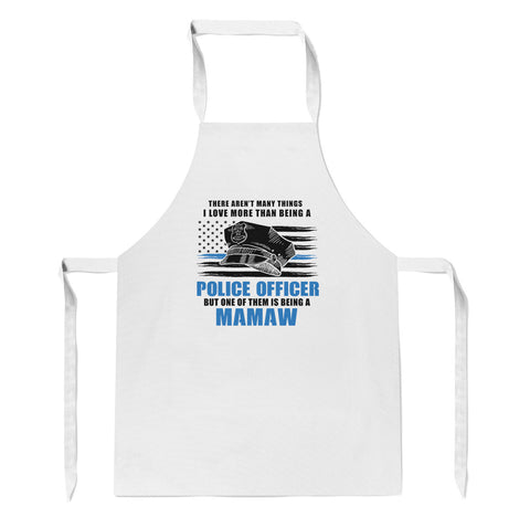 This Mamaw Loves Being a Police Officer - Apron