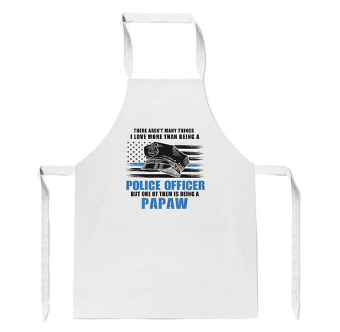 This Papaw Loves Being a Police Officer - Apron