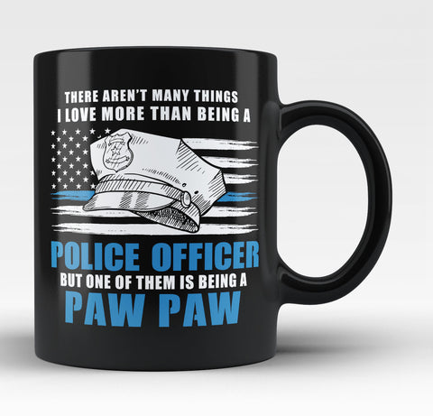 This Paw Paw Loves Being a Police Officer - Coffee Mug / Tea Cup