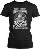 I'll Take a Biker in Leathers Any Day Women's Fit T-Shirt