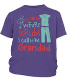 My Hero Wears Scrubs I Call Him Grandad - Children's T-Shirt