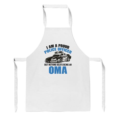 Proud Police Officer - Nothing Beats Being an Oma - Apron