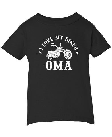 I Love My Biker Oma - Infant T-Shirt