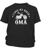 I Love My Biker Oma - Toddler T-Shirt