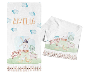 Farm Animals - Personalized Towel - Towels