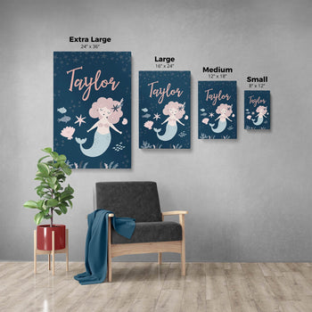 Mermaid - Personalized Canvas -  [variant_title]