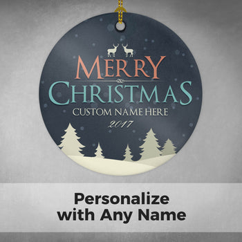Merry Christmas (Name) - Personalized Ornament