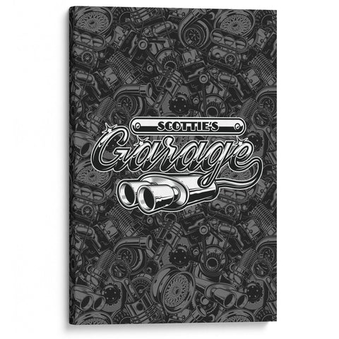 Modern Garage - Personalized Canvas for Garage or Workshop