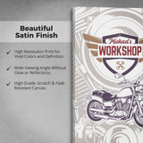 Modern Motorcycle Workshop - Personalized Canvas -  [variant_title]
