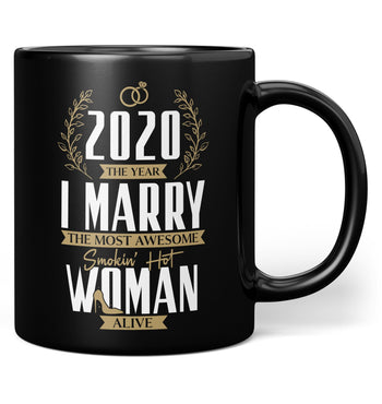 The Year I Marry the Most Awesome Woman Alive - Personalized Mug - Black / Regular - 11oz