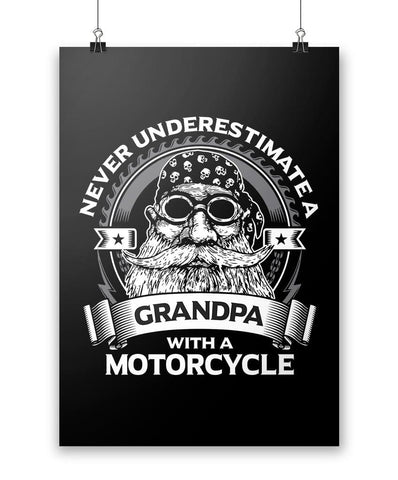 Never Underestimate a (Nickname) with a Motorcycle - Poster