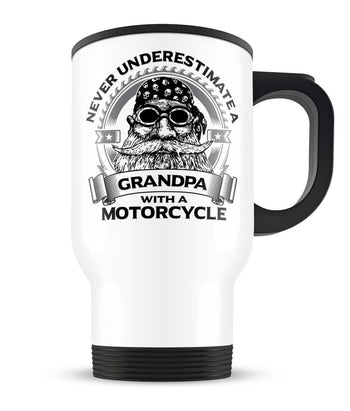 Never Underestimate a (Nickname) with Motorcycle - Travel Mug Cup