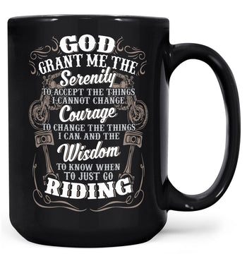 Motorcycle Serenity - Special Edition - Mug - Black / Large - 15oz