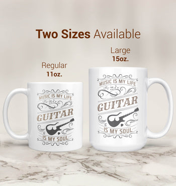 Music Is My Life Guitar Is My Soul - Mug - [variant_title]