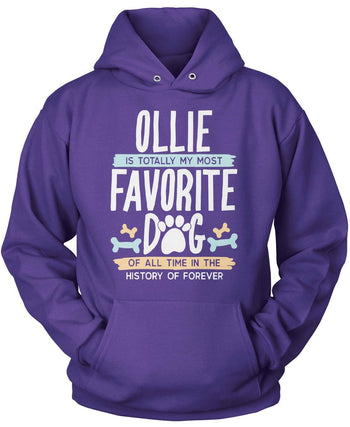 Totally My Most Favorite Dog - Personalized T-Shirt - Pullover Hoodie / Purple / S
