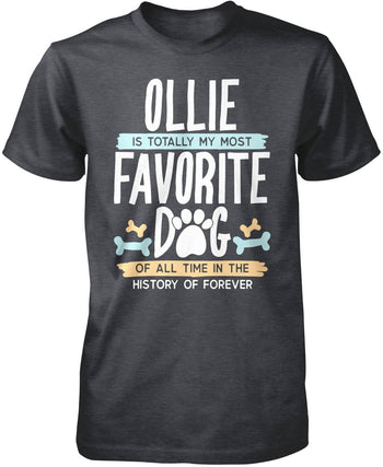 Totally My Most Favorite Dog - Personalized T-Shirt - Premium T-Shirt / Dark Heather / S