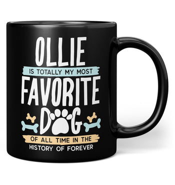Totally My Most Favorite Dog - Personalized Mug - Black / Regular - 11oz