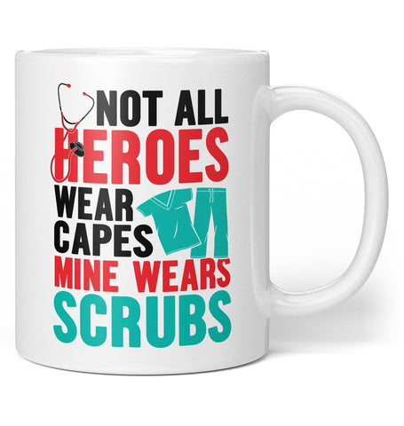 My Hero Wears Scrubs - Coffee Mug / Tea Cup
