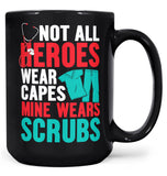 My Hero Wears Scrubs - Mug - Black / Large - 15oz