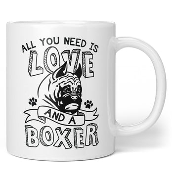 All You Need Is Love and a Boxer - Mug - Coffee Mugs
