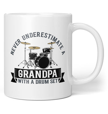 Never Underestimate a (Nickname) with a Drum Set - Personalized Mug