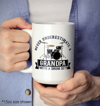 Never Underestimate a (Nickname) with a Drum Set - Mug - [variant_title]