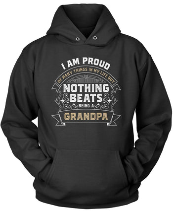 Nothing Beats Being a (Nickname) - Personalized T-Shirt - Pullover Hoodie / Black / S