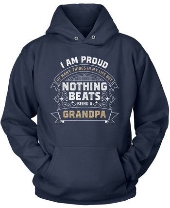 Nothing Beats Being a (Nickname) - Personalized T-Shirt - Pullover Hoodie / Navy / S