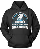 This Grandpa Loves Hockey Pullover Hoodie Sweatshirt