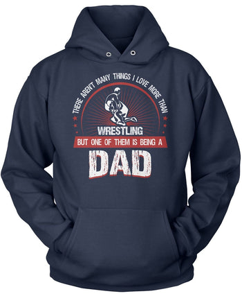 This Dad Loves Wrestling - Pullover Hoodie / Navy / S
