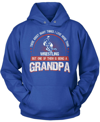 This Grandpa Loves Wrestling - Pullover Hoodie / Royal / S