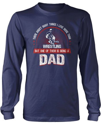 This Dad Loves Wrestling - Long Sleeve T-Shirt / Navy / S