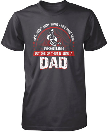 This Dad Loves Wrestling - Premium T-Shirt / Dark Heather / S