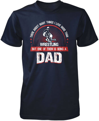 This Dad Loves Wrestling - Premium T-Shirt / Navy / S
