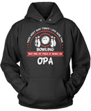 This Opa Loves Bowling Pullover Hoodie Sweatshirt