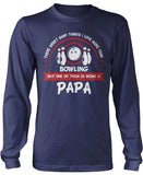 This Papa Loves Bowling Longsleeve T-Shirt