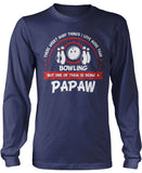 This Papaw Loves Bowling Longsleeve T-Shirt