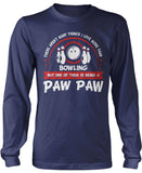 This Paw Paw Loves Bowling Longsleeve T-Shirt