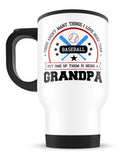 This Grandpa Loves Baseball - Travel Mug