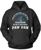 This Paw Paw Loves Guitars Pullover Hoodie Sweatshirt