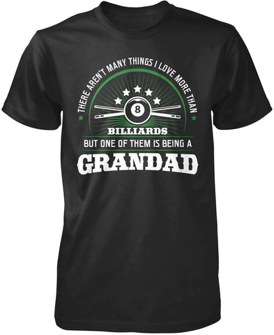 This Grandad Loves Billiards T-Shirt