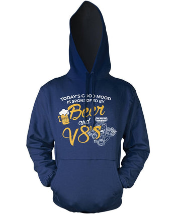 Today's Good Mood is Sponsored by Beer & V8's Pullover Hoodie Sweatshirt
