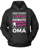 Favorite Hockey Player - Mine Calls Me Oma Pullover Hoodie Sweatshirt