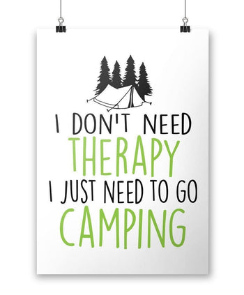 Camping Therapy - Poster - Posters