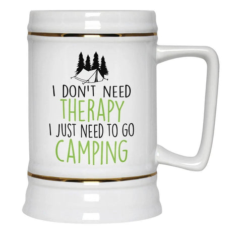 Camping Therapy - Beer Stein - Beer Steins