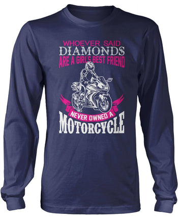 Motorcycles Are a Girl's Best Friend Longsleeve T-Shirt