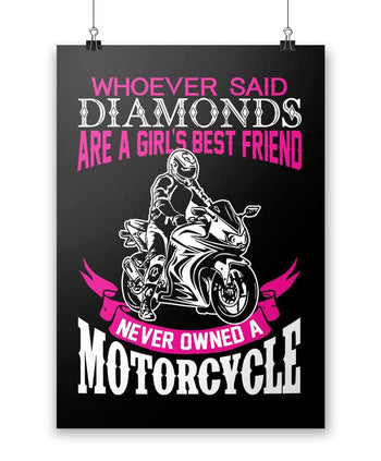 Motorcycles Are a Girl's Best Friend - Poster