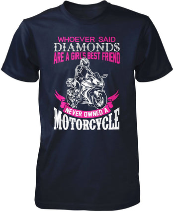 Motorcycles Are a Girl's Best Friend T-Shirt